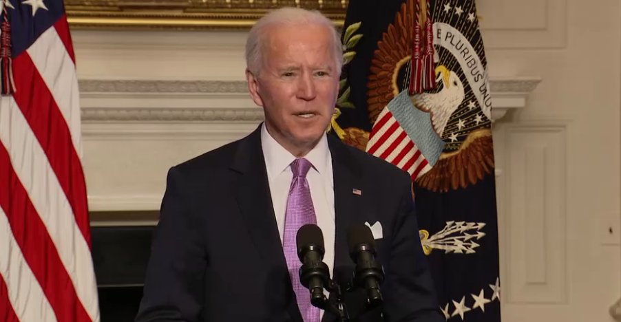 """""""Things are going to continue to get worse before they get better,"""" Biden said a few minutes ago about the pandemic.   """"We didn't get into this mess overnight and it's going to take months for us to turn this around. But let me be equally clear: we're going to get through this."""""""