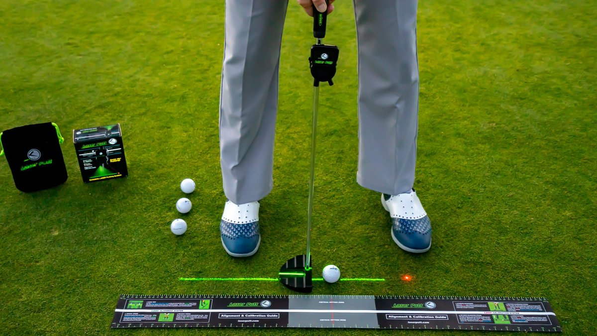 LaserPutt putting aid  With such a simple design, the LaserPutt putting aid is easy for pros and newbies alike to master. #golfers #golflife