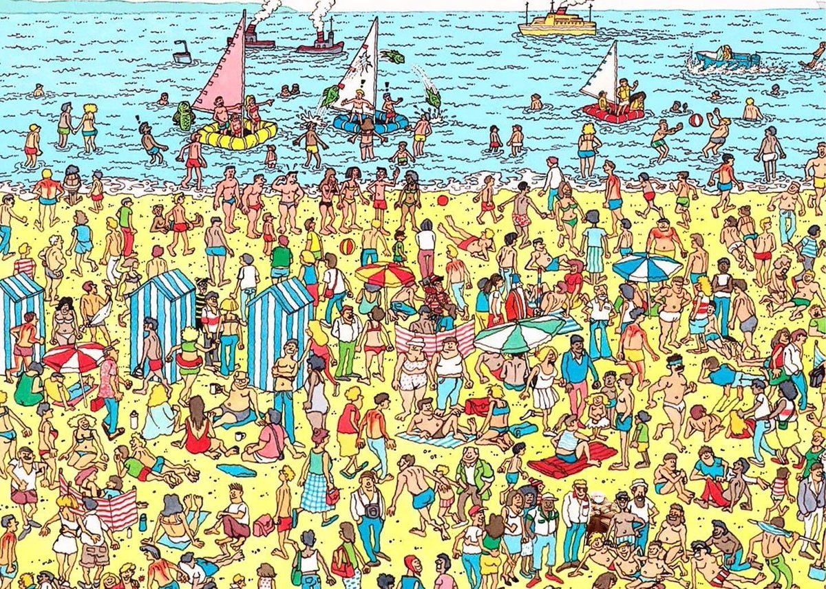 Where's Waldo, Mittens Bernie edition. 😂😂😂