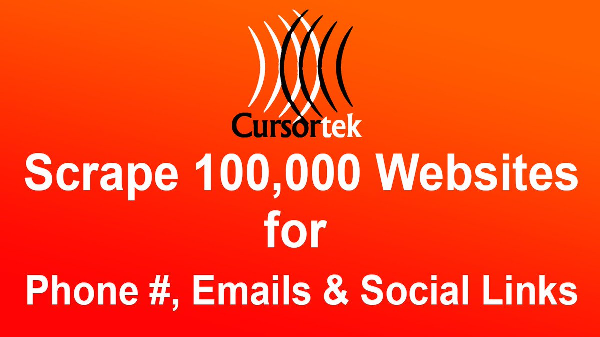 CursorTek is #selling #bulk #data of 3k plus #categories like:  #plumbing #electricians #contractors #architect #dentists #realtors #leads #HVAC #restaurants #hotels #roofing #flooring #daycare #gym #yoga #automotive #python #scrapy #java #php #emailslist