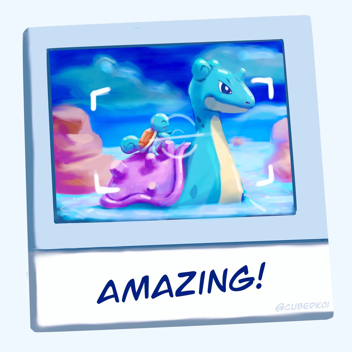 Oh to be a Squirtle riding a Lapras... #PokemonSnap