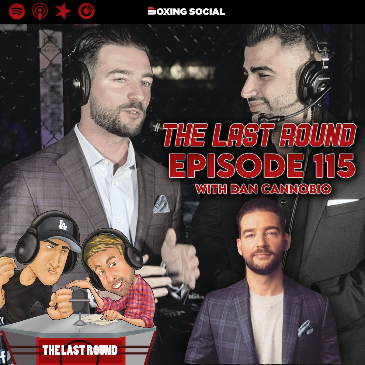 🎙Episode 115- is now LIVE on @ApplePodcasts @Audioboom @Spotify & @boxing_social 📺  Special Guest: @DanCanobbio of @CompuBox we review & preview the weekend's fight #LeoFulton #PlantTruax  ⬇️Listen⬇️  via @Audioboom