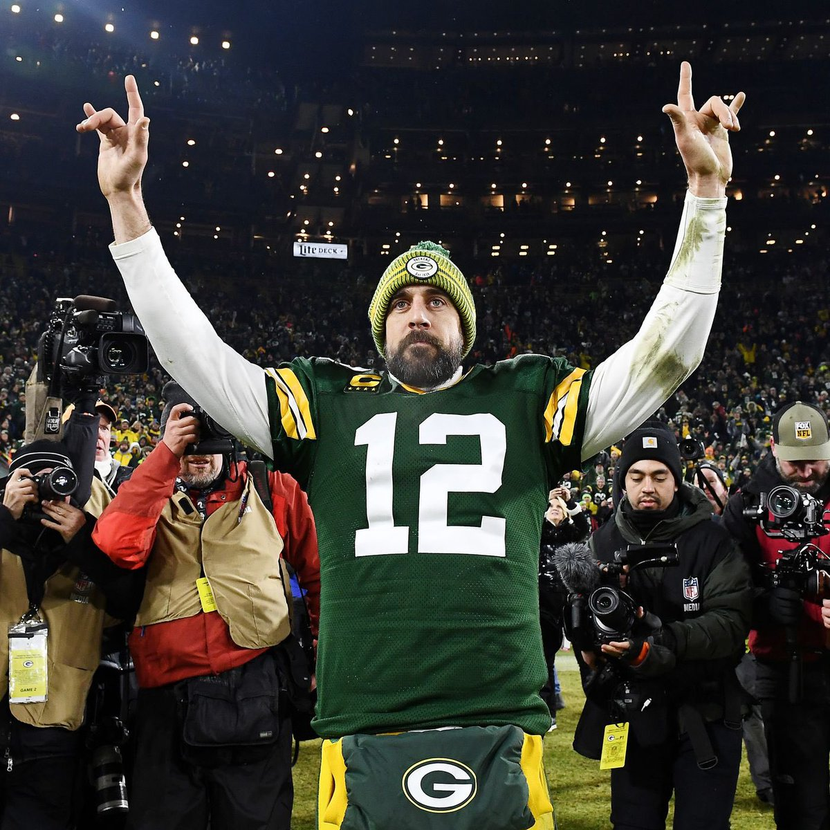 #ThankYouAaron and thank you @PatMcAfeeShow for hosting a great show all year. Love the authenticity. Can't wait for the sequel next football season. #GoPackGo @AaronRodgers12