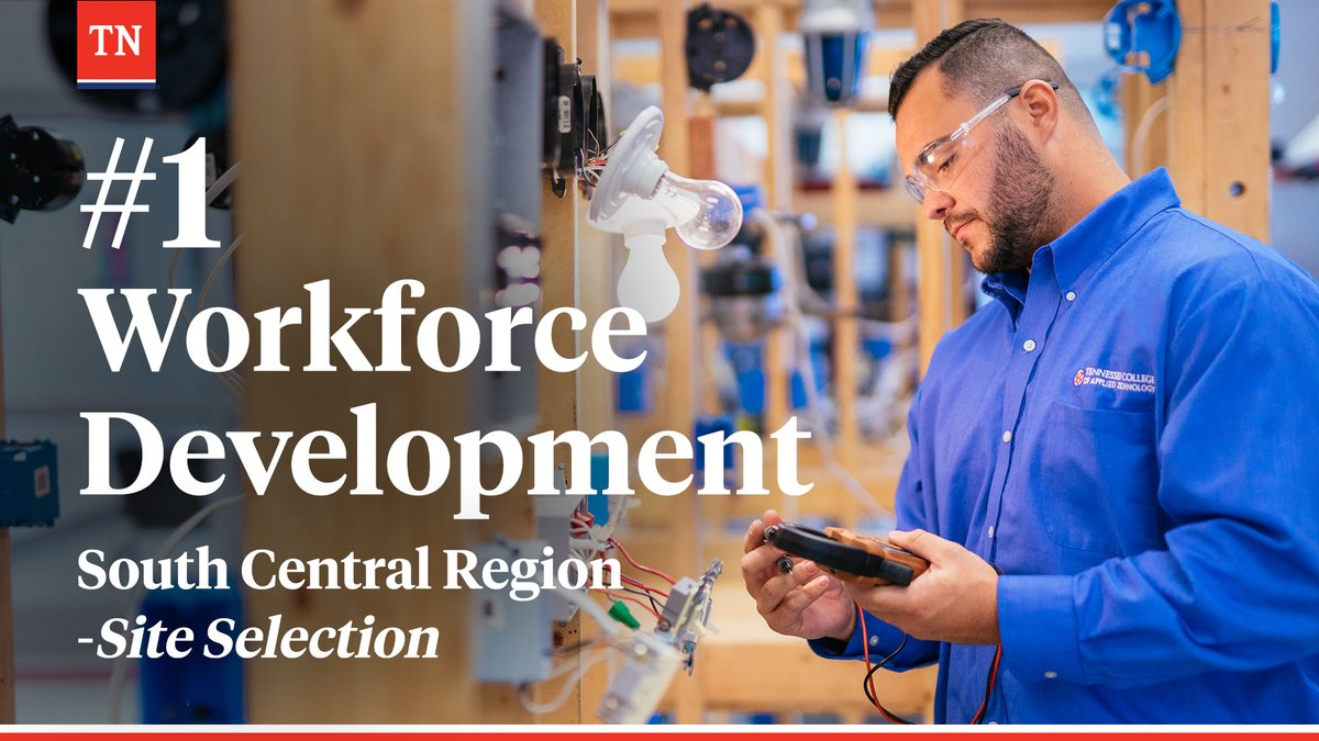 A skilled workforce fuels economic growth. Proud to see @siteselection recognize Tennessee as #1 in the South Central Region for workforce development. https://t.co/Lrq4vmo7Cn https://t.co/UD7JHZYwAW