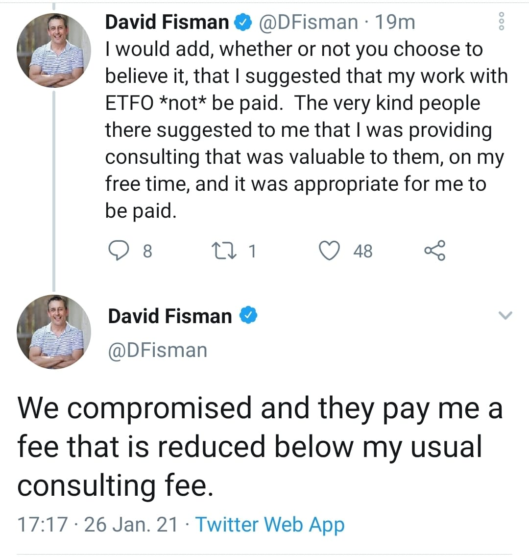 """I told the teachers' union not to pay me, but they did anyways, so there's nothing to see here, and so I didn't feel the need to disclose this publicly"" - Science Table Member Dr. @dfisman https://t.co/gALYXFEugs"