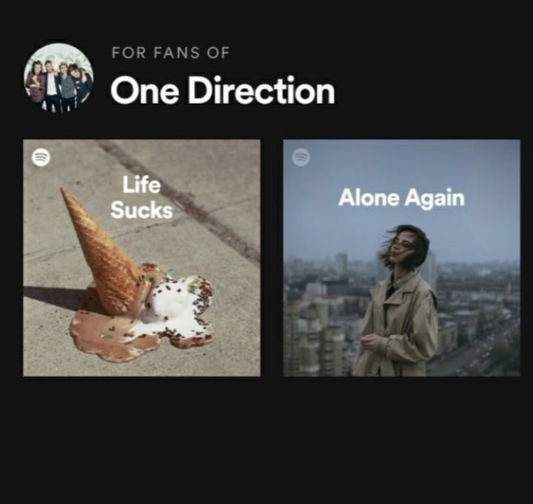 Not spotify attacking us  #1D #OneDirection