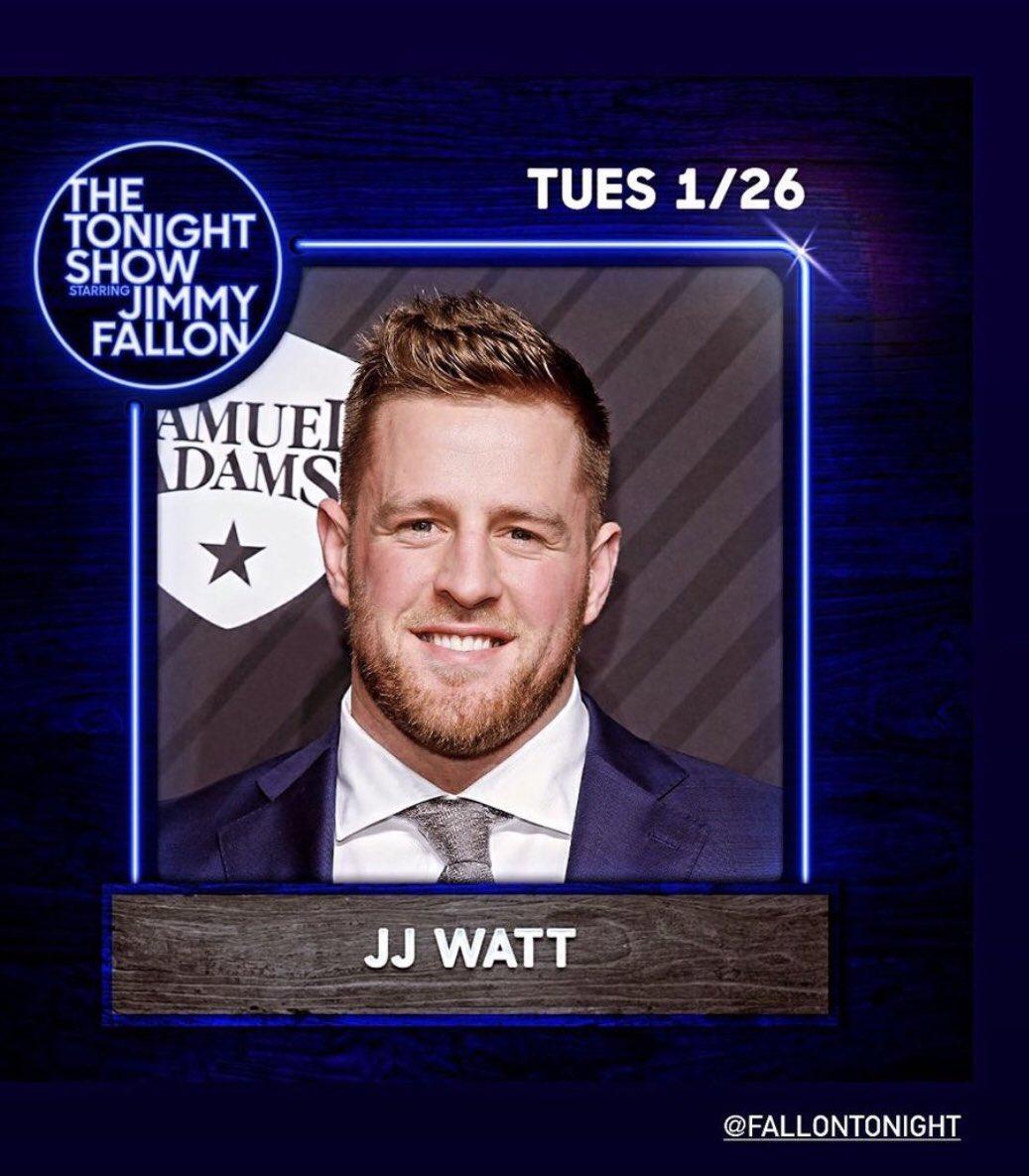 Awwwwww, I was reading my FB memories and saw that @JJWatt was on @jimmykimmel on this day in 2015! Guess what? He's on @jimmyfallon tonight!  Go JJ! #WeAreTexans #TheTonightShow