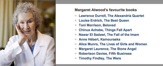 The Pleasures of Reading The Alexandria Quartet tops Margaret Atwoods list of favorite books. telegraph.co.uk/goodlife/11730…