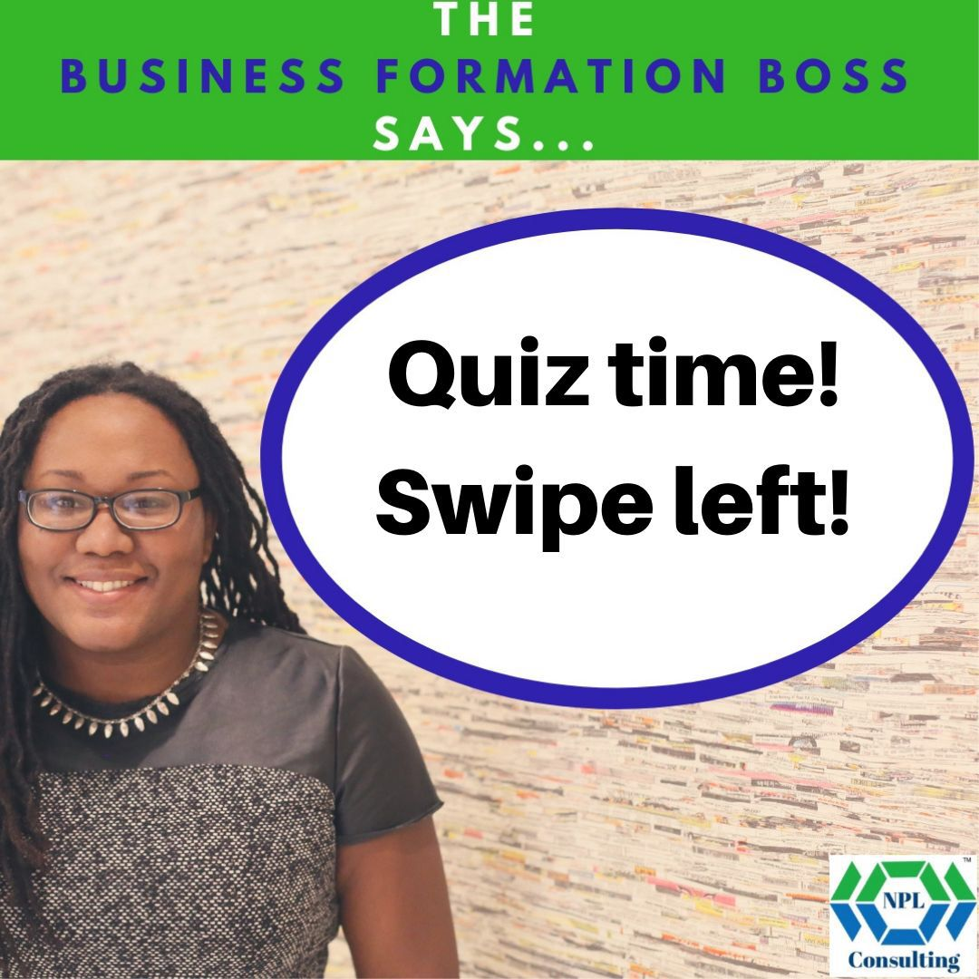 Do you know the answer? Let me know in the comments. If not, be sure to grab the Business Entities ebook!  #bossbabe #hustlegang #goalgetter #biztips #digitalmarketing  #tiptuesday #bizcredit #homebuying #legaltips