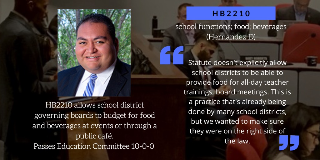 Rep. @danielforaz's #HB2210 passes the Education committee unanimously! On to the Floor #azleg