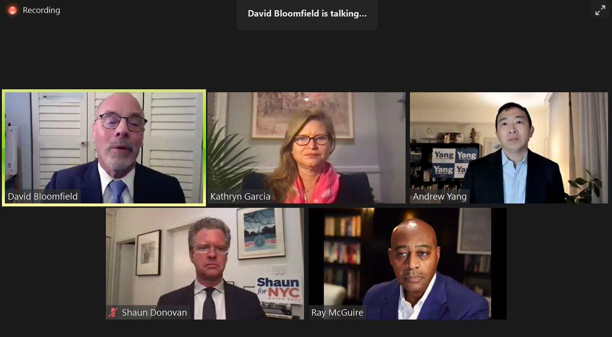 2nd Panel Mayoral Forum @CannizzaroCSA @FollowCSA @ShaunDonovanNYC @KGforNYC @RayForMayor @AndrewYang Moderator @BloomfieldDavid #ptech #weareptech @rashidfdavis #leadership #nyc
