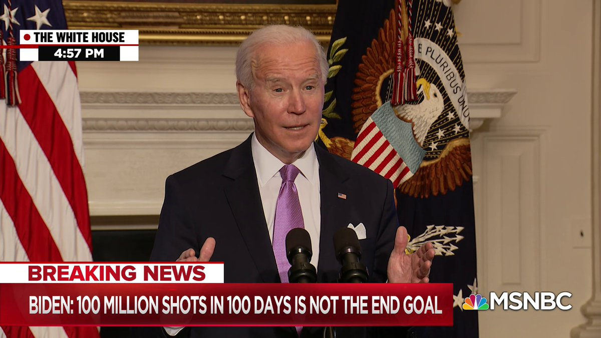 "President Biden: ""We're using the Defense Production Act to launch full scale wartime efforts to address the supply shortages we inherited from the previous administration."""