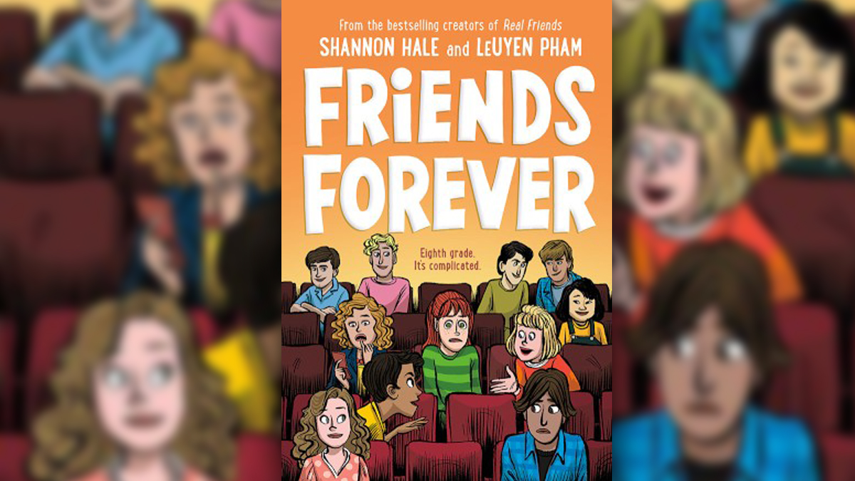 .@PublishersWkly has the cover reveal for #FriendsForever, @haleshannon & #LeUyenPhams sequel to Real Friends and Best Friends! Check it out here: bit.ly/2YixT3K