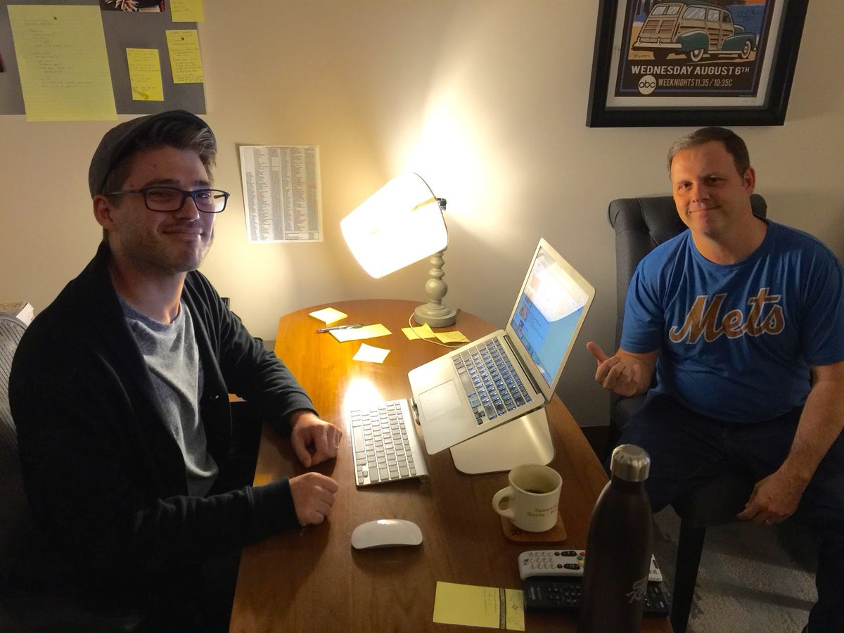 My pal @TheCousinSal has a new book out today, and to celebrate - here's a picture of the time he intentionally smashed my new desk lamp, simply because I told him I had purchased a new desk lamp.