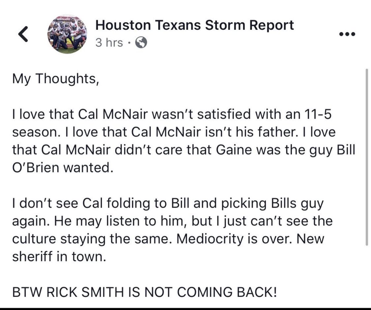 @Texans_Thoughts @HoustonFBpodguy @PatrickStormTU just found this screen shot in my phone that I took bc I was so pumped at the time and in agreement with these thoughts, my how this has aged poorly #WeAreTexans