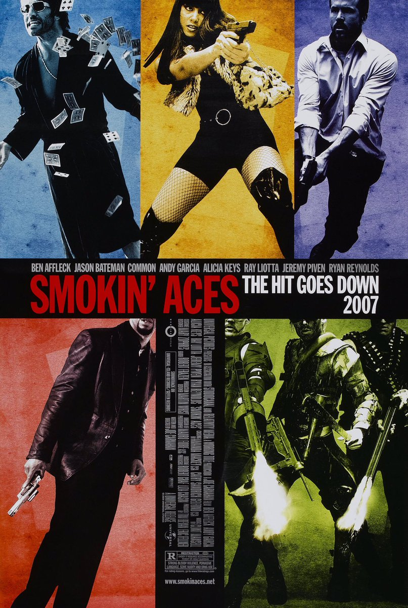 🎬MOVIE HISTORY: 14 years ago today, January 26, 2007, the movie 'Smokin' Aces' opened in theaters!  #RayLiotta #RyanReynolds #AndyGarcia #JeremyPiven @TommyFlanagan #JosephRuskin #AliciaKeys @tarajiphenson #NestorCarbonell #ChrisPine @batemanjason #BenAffleck @common