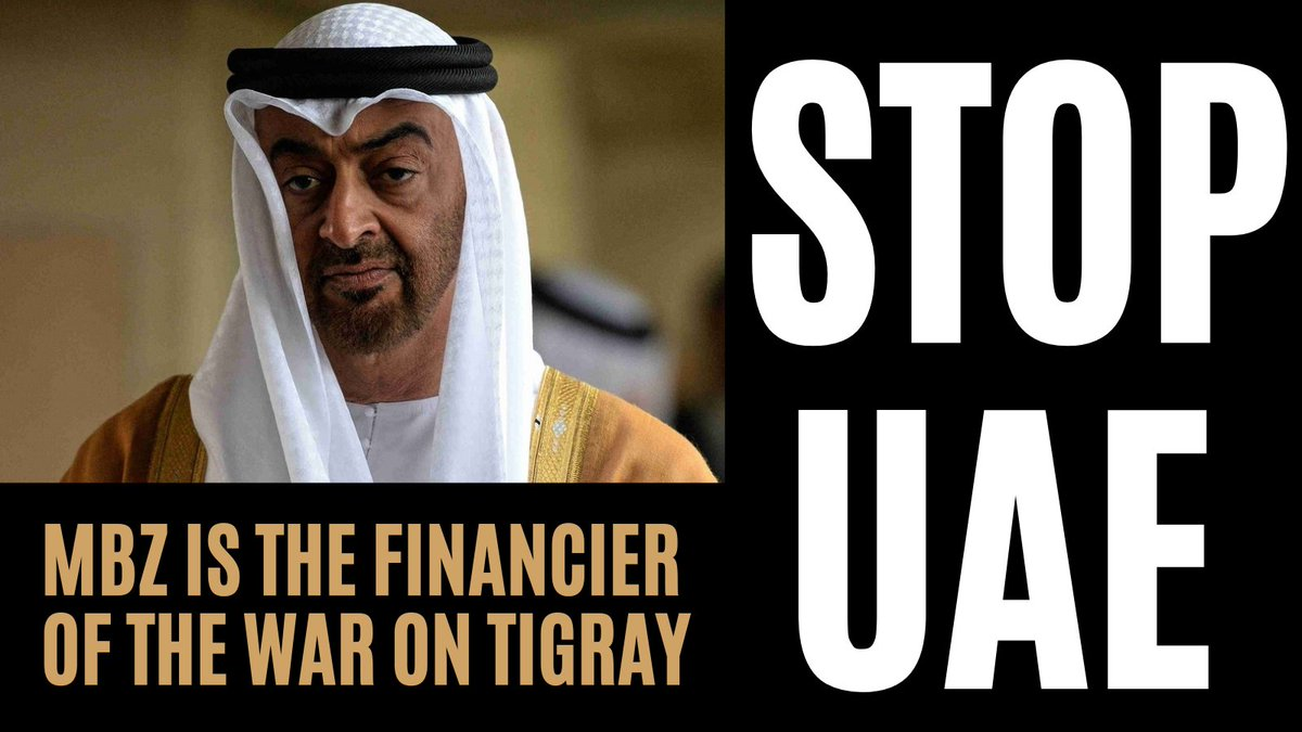 STOP @MohamedBinZayed from destroying Ethiopia.   The world has seen him commit war crimes by proxy in Syria, Libya and Yemen.   His new adventure is now Tigray, the land of Al-Nejashi, the protector of Islam at the time of Prophet Muhammad (PBUH)  STOP MBZ'S WAR SPONSORSHIP!!!!