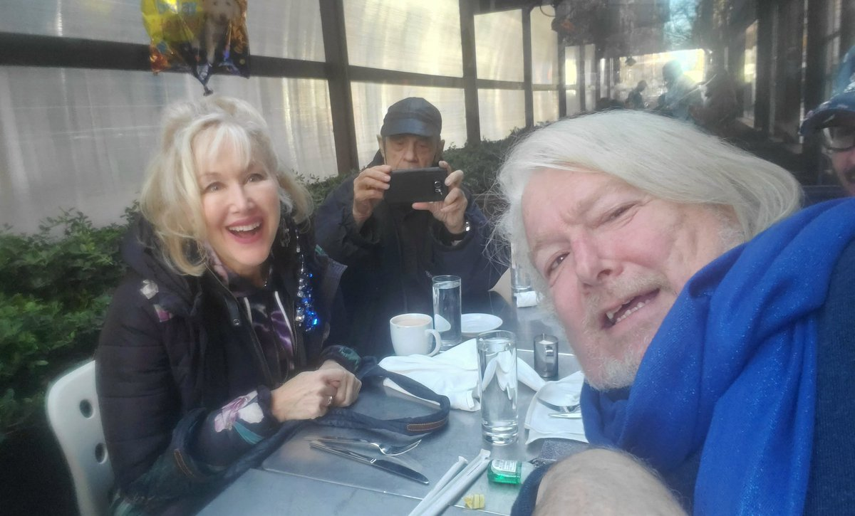 With the birthday girl herself  @wendystuart   At her birthday Brunch at Cafeteria Restaurant.   Her husband Alan Kaplan is behind us taking pictures.   #birthdaybrunch #goodfriends #nycentertainers #lifeoftym #gaymoviestar #lgbtactivist   @tymmoss https://t.co/3XL4EFRHuS