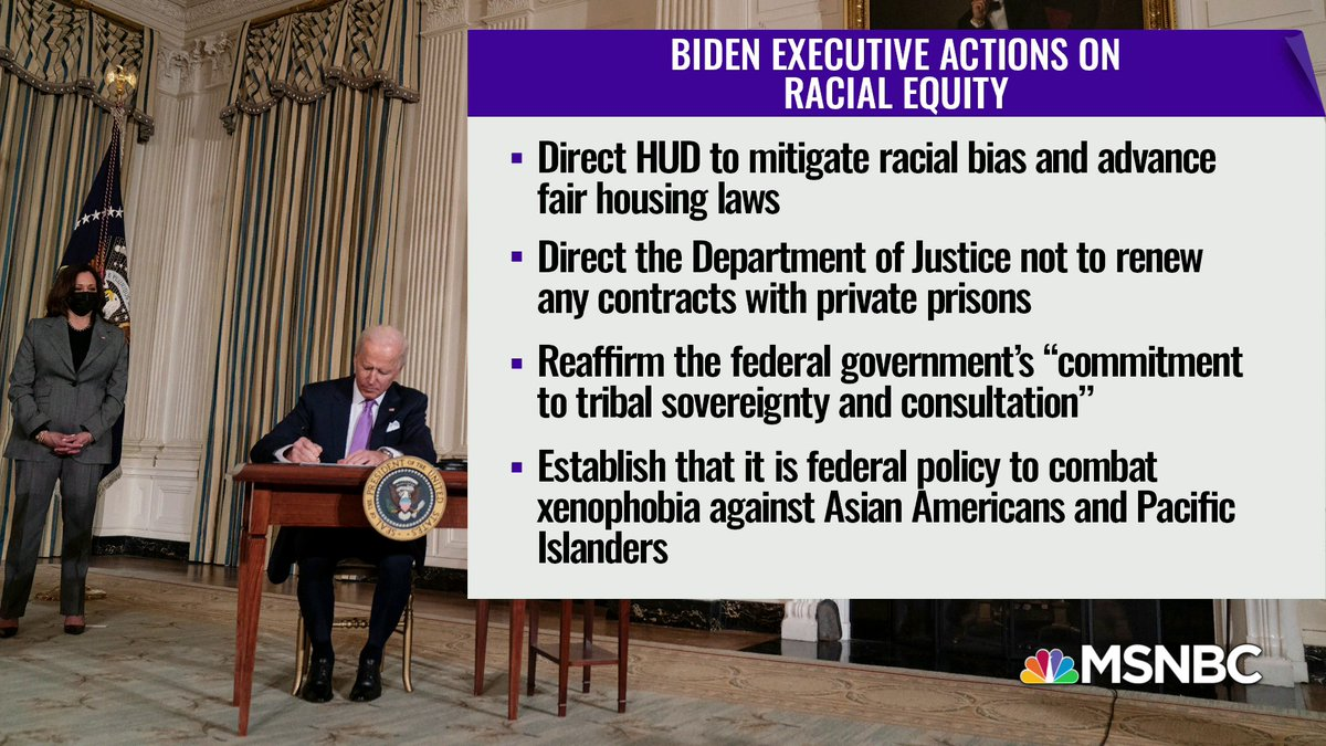 Here's a look at Biden's Executive Actions on racial equity. #TheReidOut