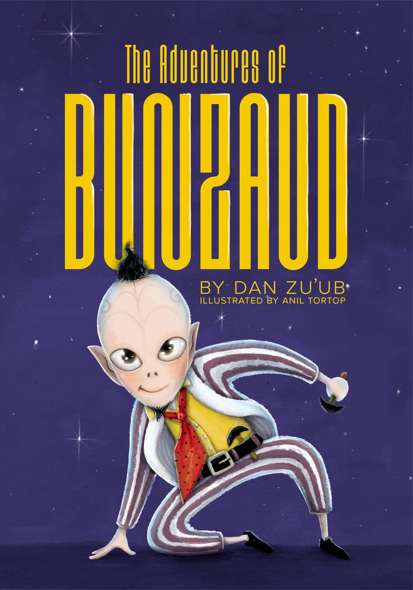 When #Bunzaud asks for his true love's hand in marriage not only does her father say no, he sends an assassin to kill the little #alien. The couple flees and journeys to #strange #planets. #scifi #space #adventure #paperback #novel #family #reading #books