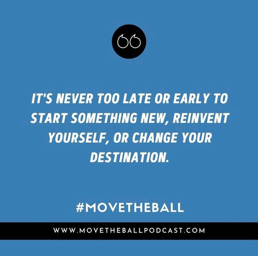 You are never too old or too young to pursue your dreams and don't let anyone tell you otherwise.   #movetheball #motivation #inspiration #dailymotivation #empowerment