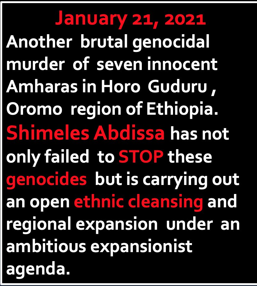 #StopAmharaGenocide @UN @MinorityRights @hrw @amnesty @UNHumanRights @FelixHorne1 @TLHumanRights @LaetitiaBader @BronwynBruton @AmanpourCoPBS #OLF #Oromia #OromoProtests #Ethiopia @JP4Ethiopia @ShimelisAbdisa @ReutersUS
