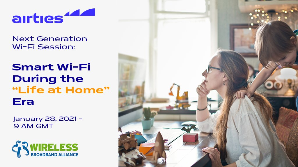Don't miss the chance! Tomorrow, 28th January, join us at Asia Telecom Summit @WBAlliance to discuss the impact of lockdown on home #WiFi networks and the role of #SmartWiFi during the 'Life at Home Era'. Grab your free ticket: https://t.co/m3O4oQlHIH #wifintelligence #WGC #WFH https://t.co/IBQ1ZxiUmU