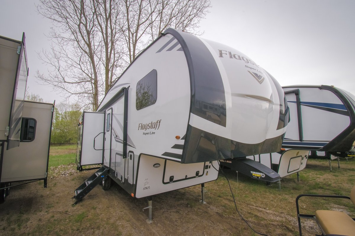 In the market for a new Fifth Wheel? This 2020 Forest River Flagstaff Super Lite Fw 526RLWS Fifth Wheel might be what you are looking for. 👀  Where is your next adventure going to be? 🗺️  #GillettesInterstateRV #familytime #wanderlust #roadtrip #campingadventure #rvcamping
