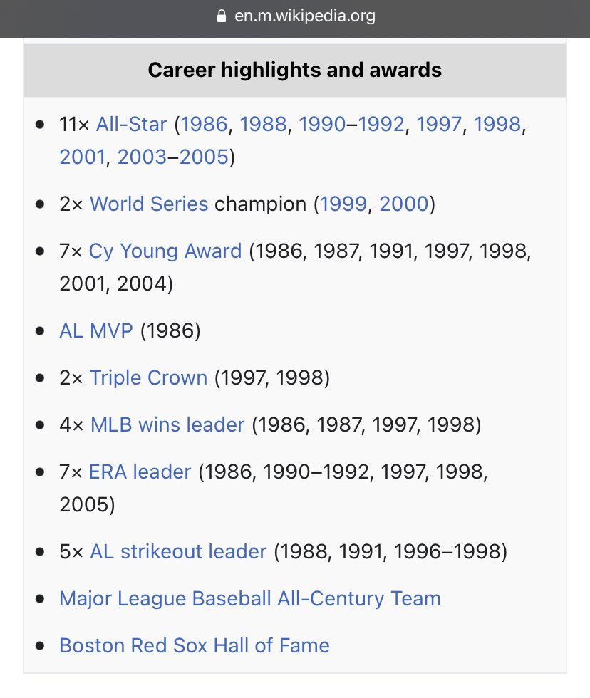 How is Roger Clemens not in the #HOF2021 ? Look at this over his 24 seasons.