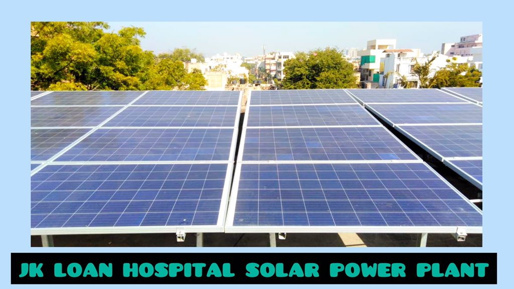 200 KWP capacity Solar Rooftop Power Plant has been commissioned by Jaipur Smart City at JK Loan Hospital building, Jaipur, based on net metering #solar #renewableenergy #energy #Jaipur #WednesdayMotivation #Environnement #green #change #powerplant #Project #climate #city