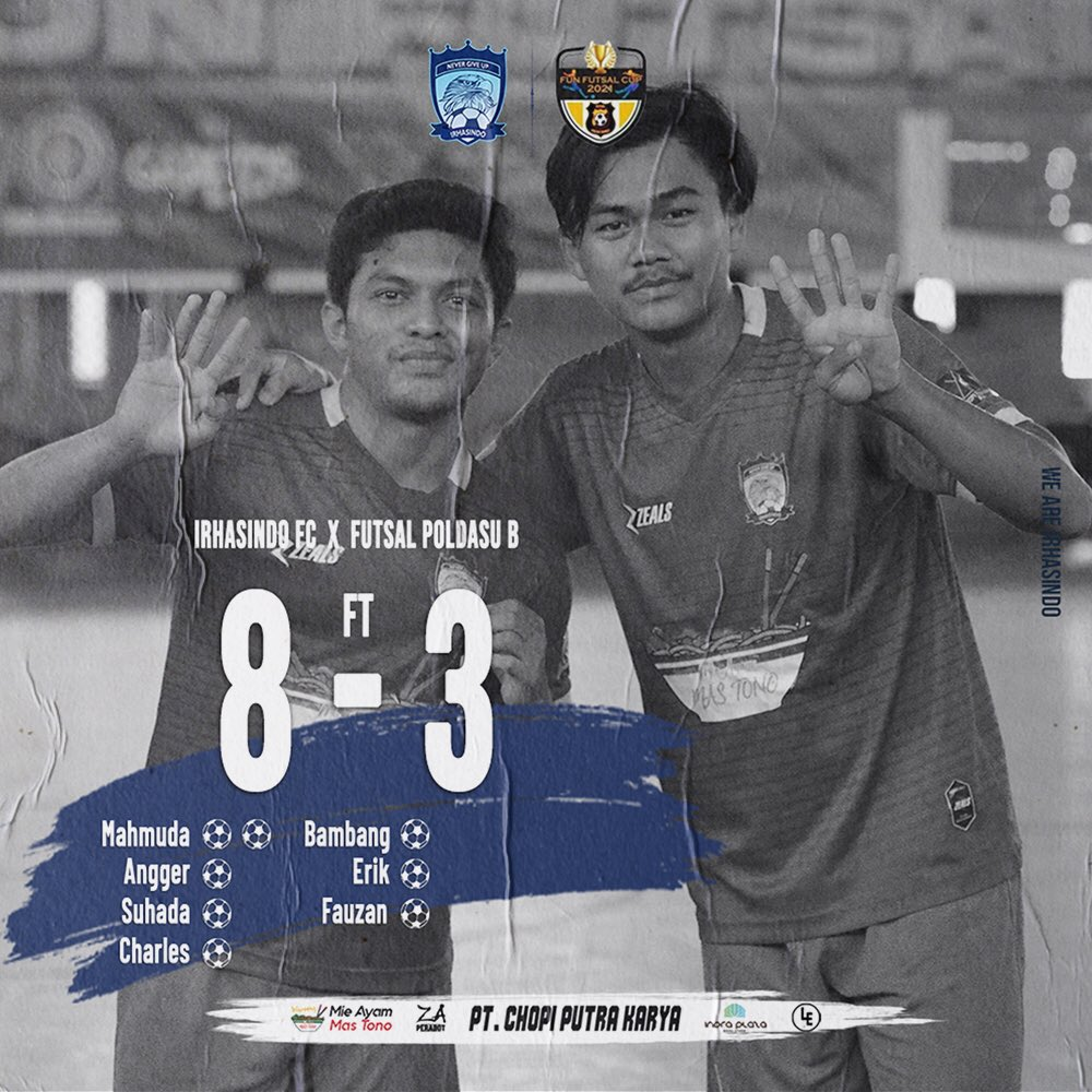 9 point 💙 #FunFutsalCup #WeAreIrhasindo #NeverGiveUp 🦅