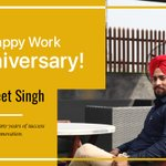 Image for the Tweet beginning: Congratulations, Gurpreet! On your 'Work