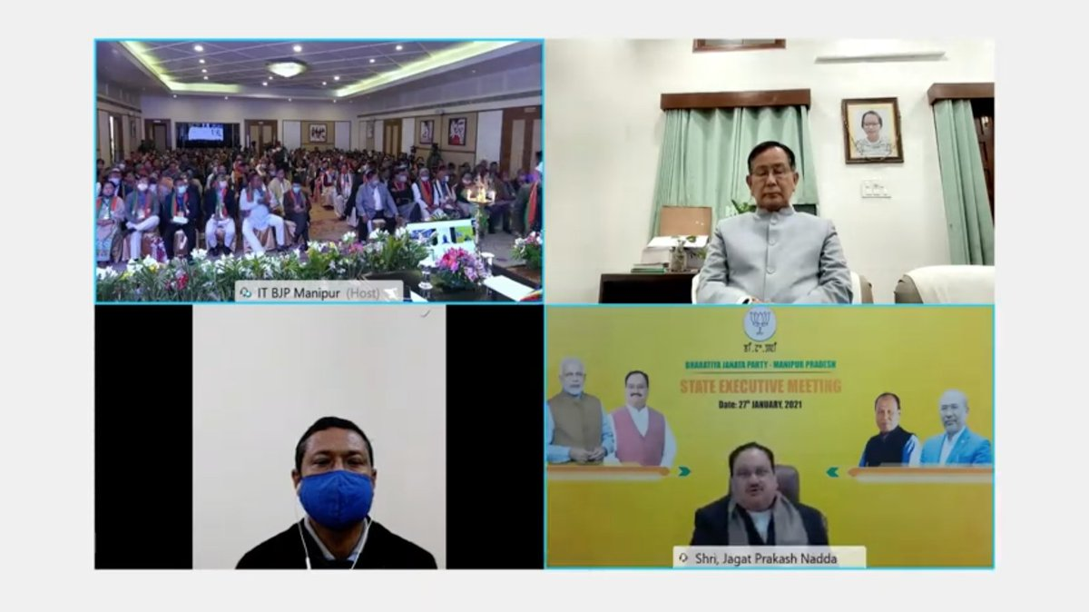 In 1944, the brave people of Manipur along with the INA, formed by Netaji Subhash Chandra Bose, had hosted the Indian flag in the state: BJP National President Shri @JPNadda