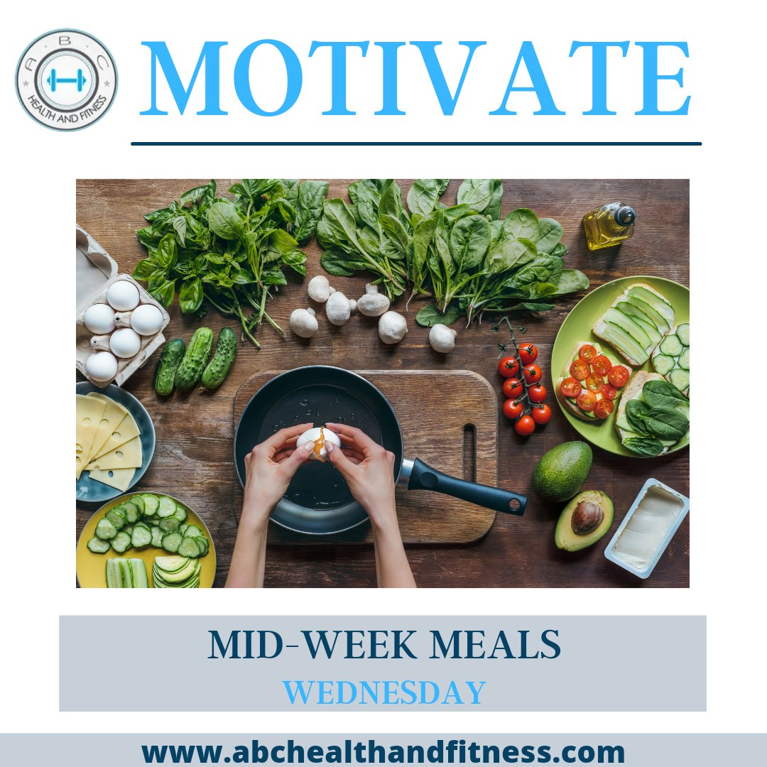 💪WEDNESDAY💪   💪MOTIVATE💪  ✨MID-WEEK MEALS✨  👉When you-re having a crazy busy day, you need one of these meals. The whole family will love them and they-re prepped and on the table in 30 minutes or less! . . Register:  . . . #fitness #gym #workout