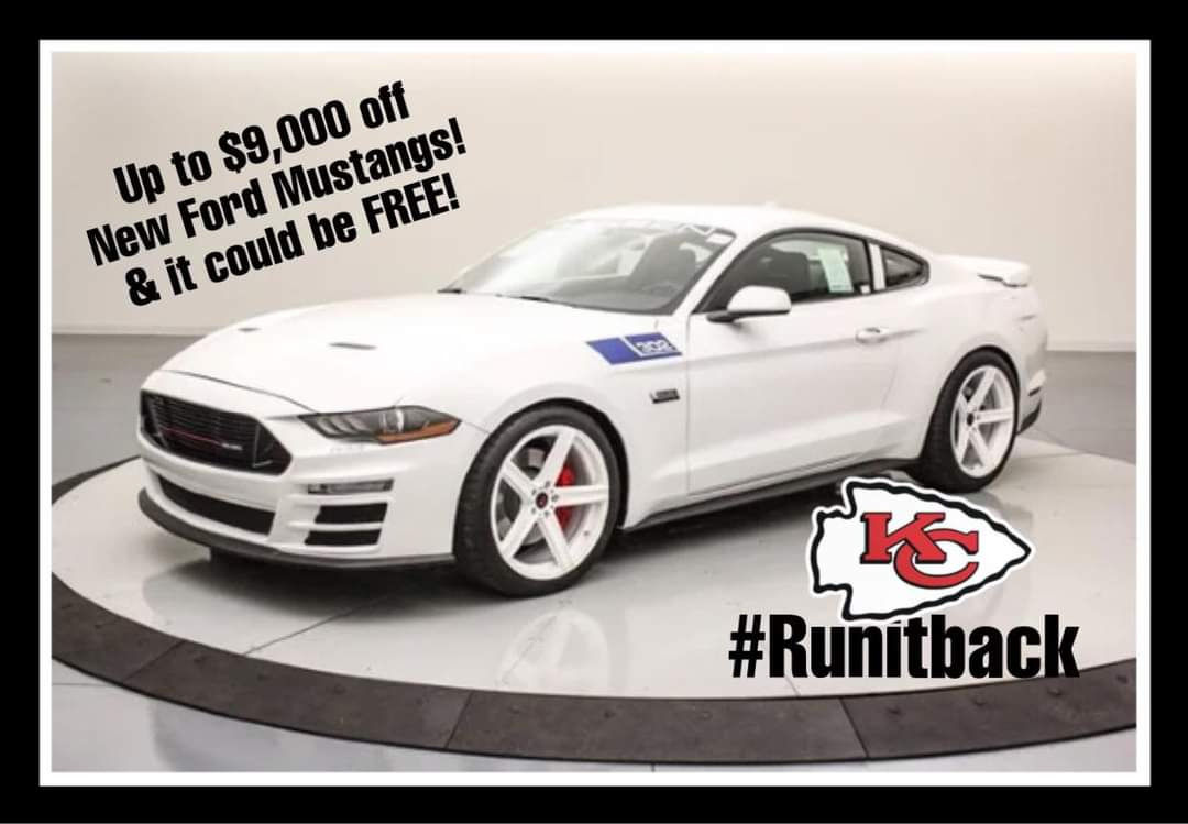 IT MIGHT BE FREE!!!  Buy a vehicle between now and 2/6. If the opening kickoff of the Big Game on 2/7 is returned for a touchdown, we return 100% of the purchase price! When the Chiefs #RUNITBACK, we #GIVEITBACK     See dealer for details!