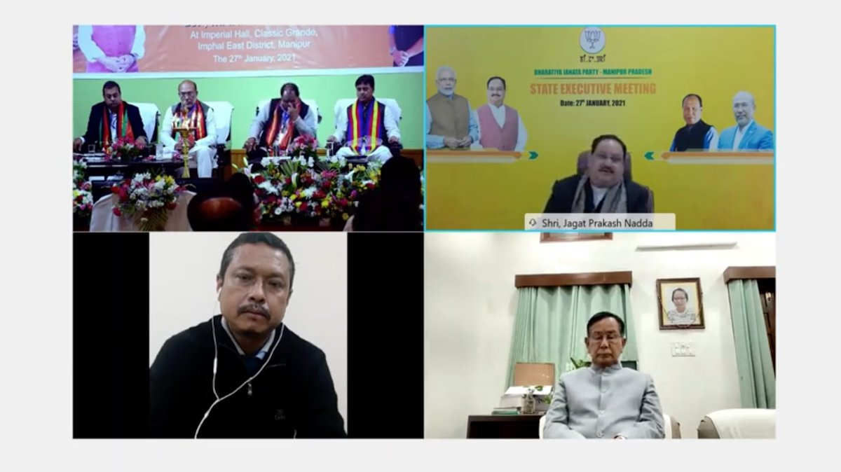 From time-to-time, we must look into how much effective contribution we've been able to give to the party.   We must assign special responsibilities to our workers so they can directly contribute to the growth of the party in Manipur.  - BJP National President Shri @JPNadda
