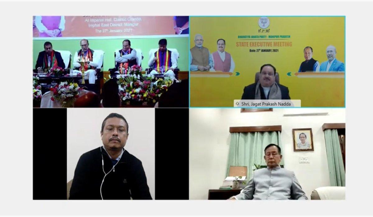 Manipur stands 3rd in beneficiaries' list in Matru Vandana Yojana.   48,000 beneficiaries have been registered, with 20,000 already receiving benefits.  - BJP National President Shri @JPNadda