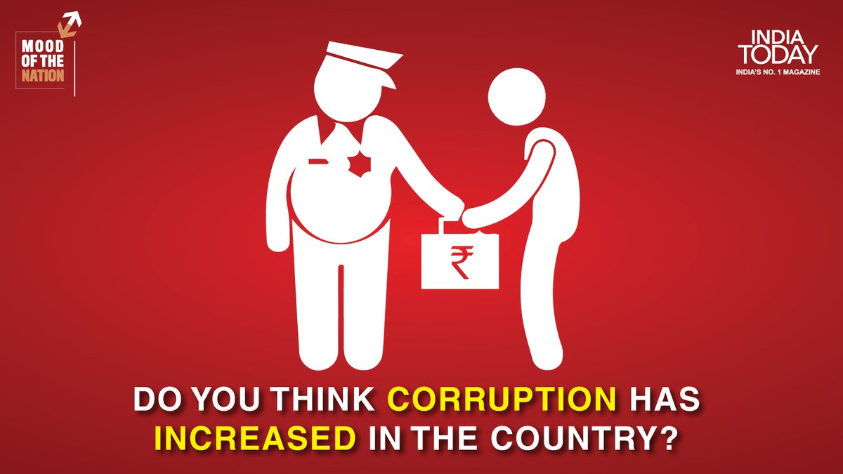 Has corruption increased in the country? Click  to know what India thinks? #MagazinePromo #IndiaTodayMagazine