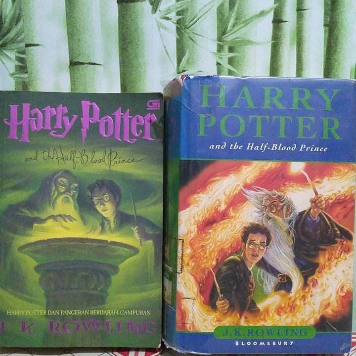 Harry Potter Jilid 6 Edisi Inggris dan Indonesia 79.000  Minat?  #HarryPotternovel #harrypoterworld #NovelBekasBeekualitas #HarryPotter #harrypotterindonesia
