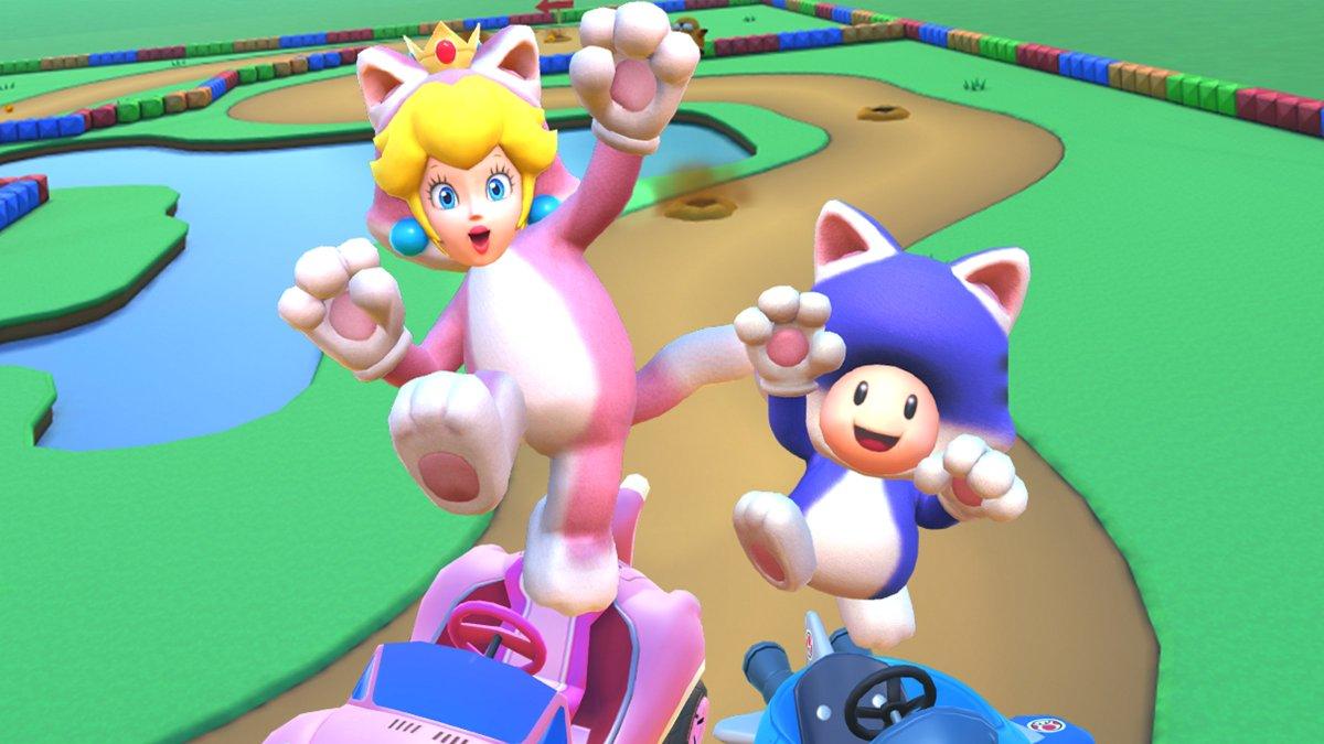 test ツイッターメディア - 『マリオカート ツアー』で、本日から「ネコツアー」が開幕! ネコピーチとネコキノピオが新キャラクターとして登場します。『スーパーマリオ 3Dワールド + フューリーワールド』の発売前に、ぜひ遊んでみてはいかがかニャ? #マリオカートツアー https://t.co/rlKyC1zUwk