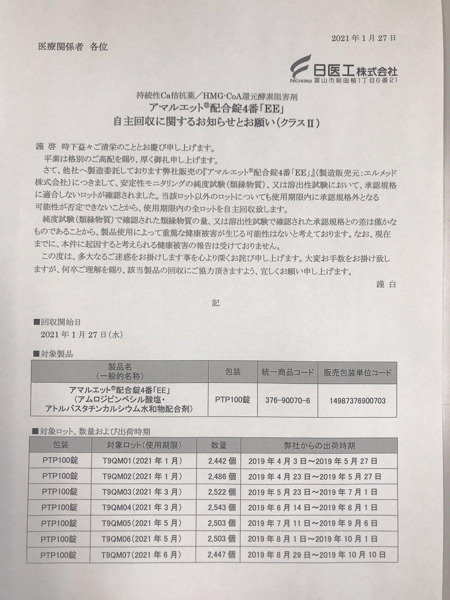 工 自主 回収 日医 日医工に32日間の業務停止命令 後発薬大手10年以上前から違法処理(北日本新聞)