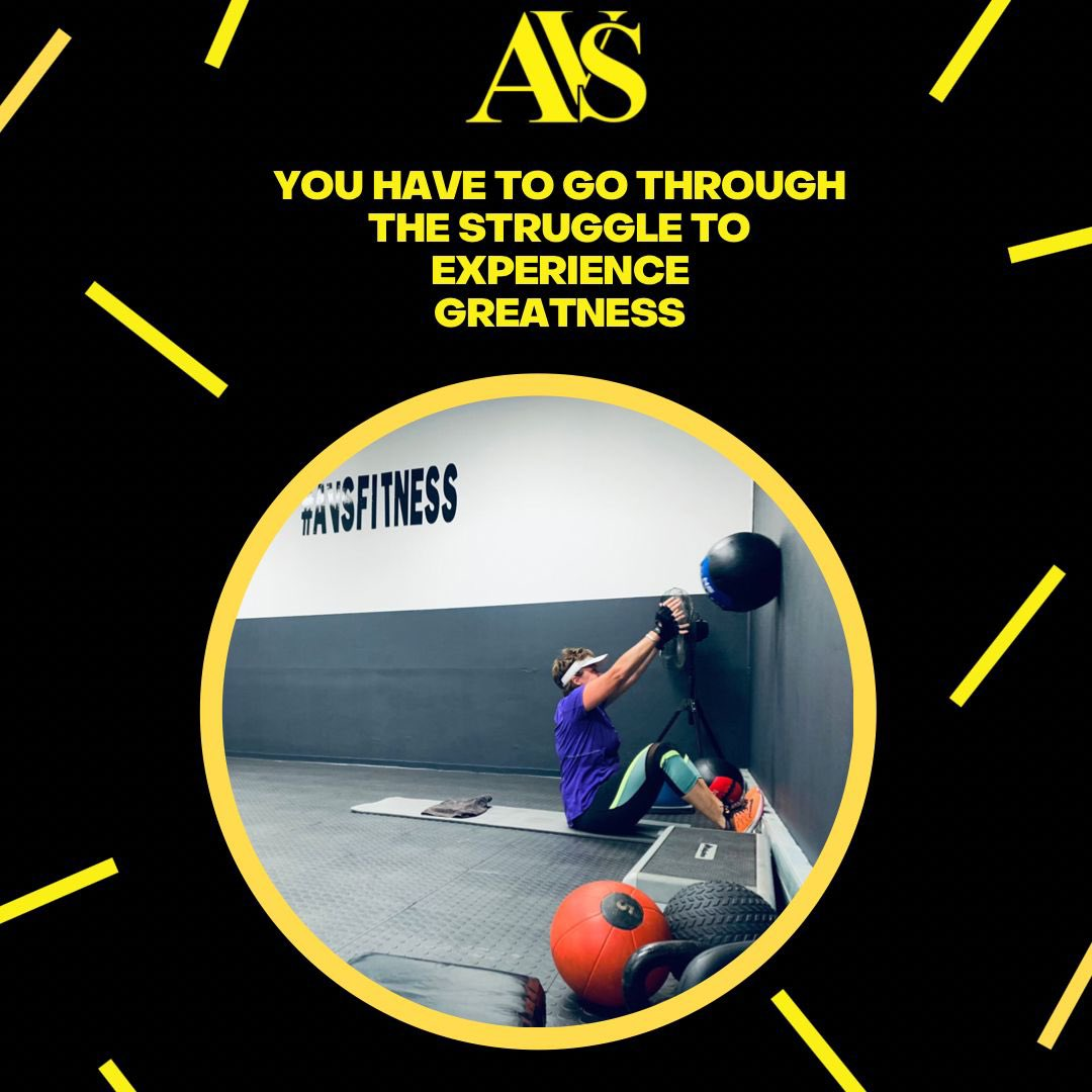 You have to go through the struggle experience  greatness..   -AVS- . .  #TeamAvs #StartofGood  #Letsgo #NEVERGIVEUP #Consistency #Core #AVSFUNCTIONALSTUDIO #FetchYourBody2021  #STARTNOW #AvsFitness #FUNCTIONALTRAINING #AVSGEAR #WORKOUTWEDNESDAY