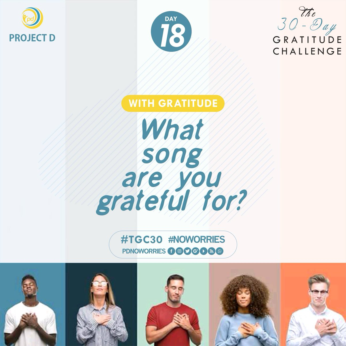 DAY 18-THE GRATITUDE CHALLENGE  The best pain killer still remains music. We listen to them in good and down times. Which are you grateful for 😊  #day18 #song #tgc30 #join #gratitude #gratitudechallenge #mentalhealth #notodepression #notosuicide #yestolife #projectd #noworries