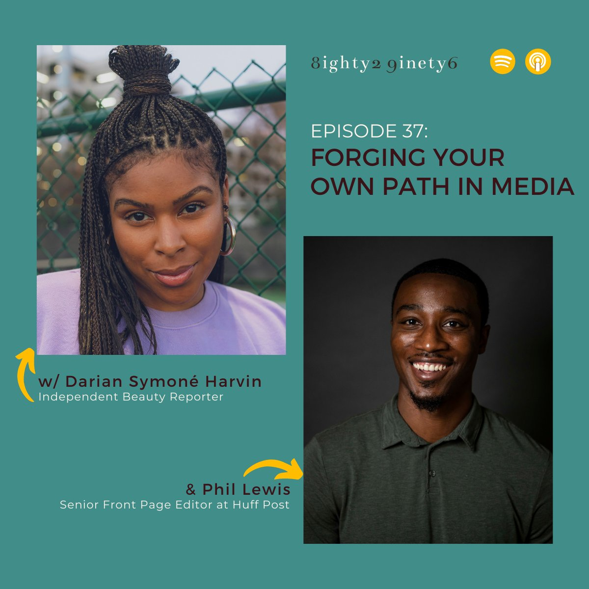 First the Clubhouse room, now the episode! Listen to Episode 37 Forging Your Own Path in Media featuring @Phil_Lewis_ and @dariansymone. 💎💎💎 bit.ly/8296apple bit.ly/8296spotify