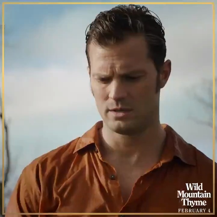Who wouldn't want to be courted by Jamie Dornan? Experience the romantic comedy #WildMountainThyme 🍀 in Australian cinemas February 4.