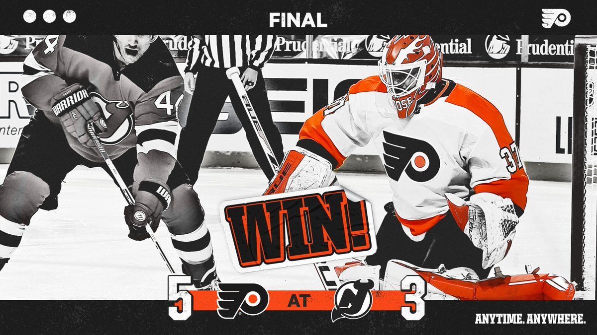 🔶 FLYERS WIN 🔶  Not today, Satan.  #AnytimeAnywhere | #PHIvsNJD