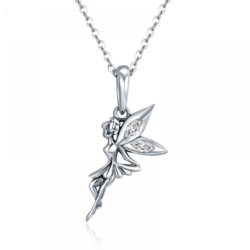 #girls #hair Romantic Fairy Dangle Pendant Necklace