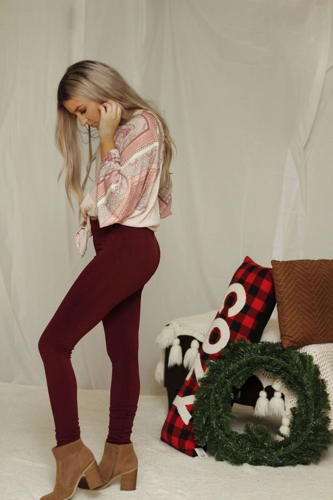 😍Fleece lined leggings in dark burgundy😍 🛍 Shop Aydan+Stone now at    #musthave #lovethislook #fashiontrends #bossbabe #lovetoshop