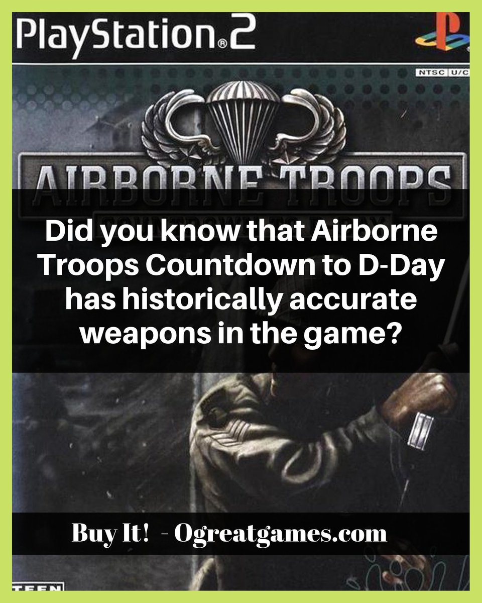 Did you know that Airborne Troops Countdown to D-Day has historically accurate weapons in the game? #history #videogames #question #adventure #gamers