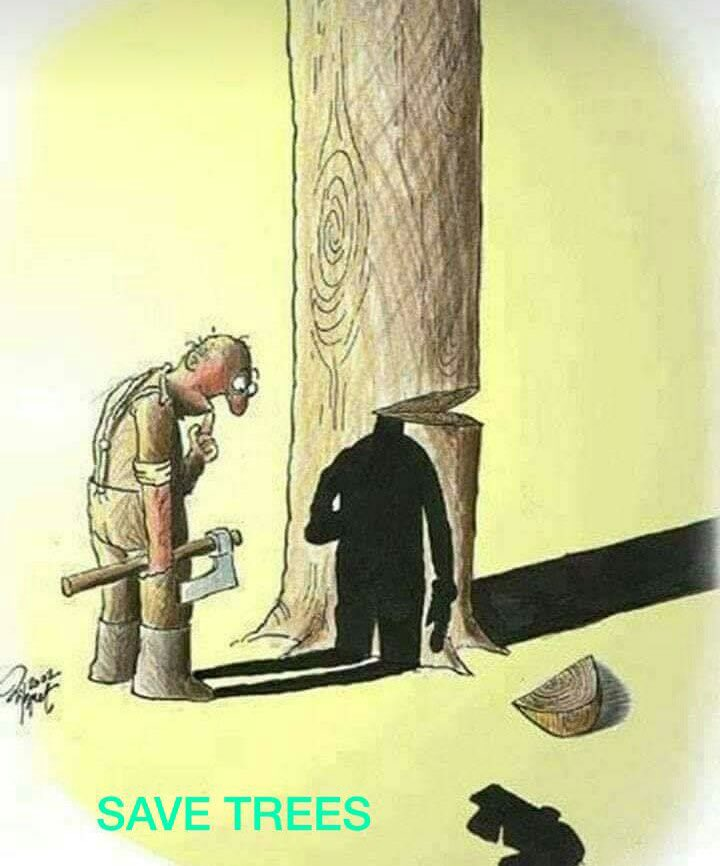 Bitter truth of present time. We might not be aware of the effects of our deeds that we are committing towards Mother Nature. But we will not be able to withstand the corollary of these cruel acts. Beware before it's too late, Embrace #GreenIndiaChallenge🌱  #WednesdayThought